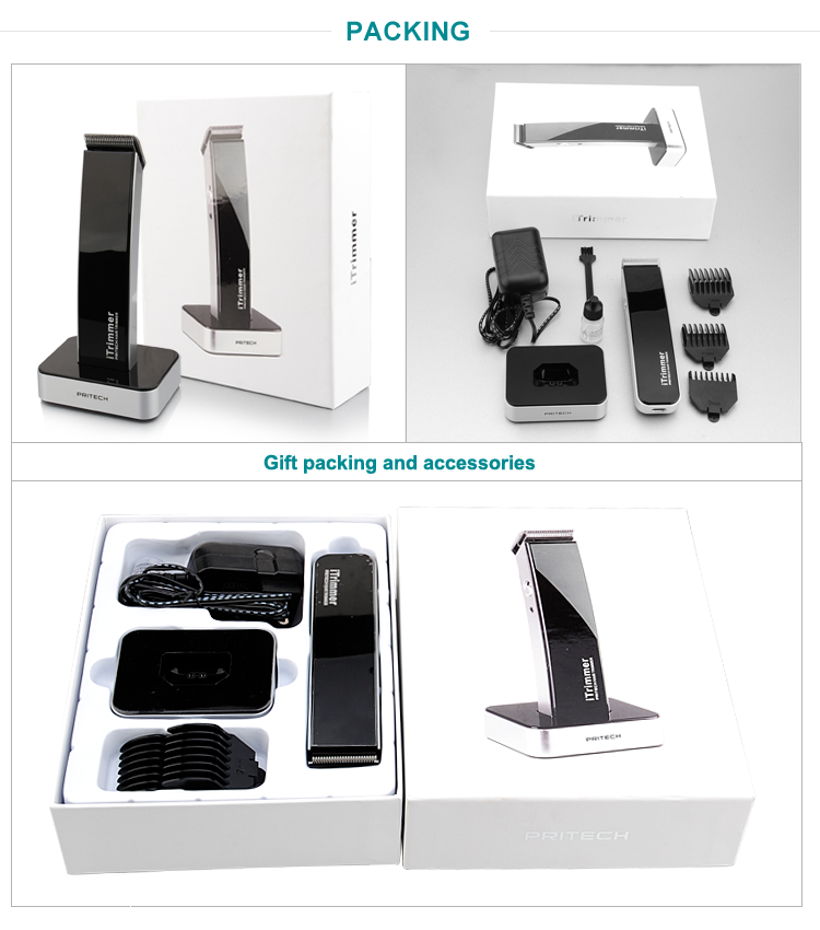 PRITECH Professional Rechargeable Hair Clippers With 600mA Li-tium Battery