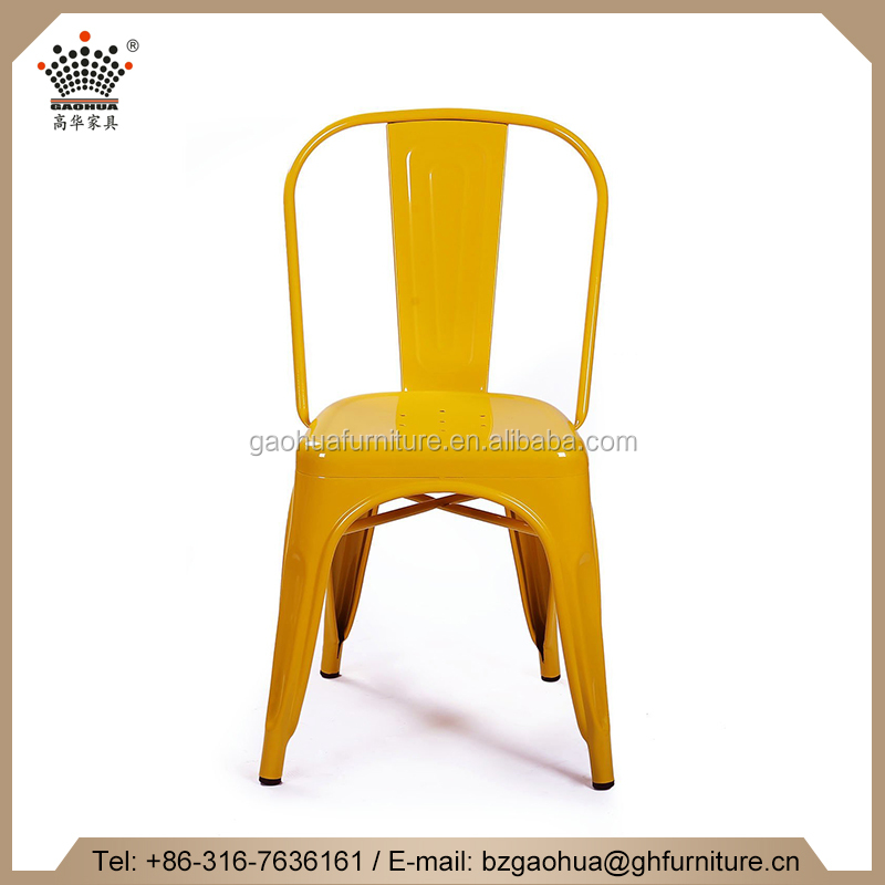 Metal 2016 New Style Stackable Industrial Dining Bistro Cafe Side Chair/ Outdoor and Indoor Chair/Dining Room Chair