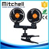 24/12v high temperature stepless speed car clip double headed fan