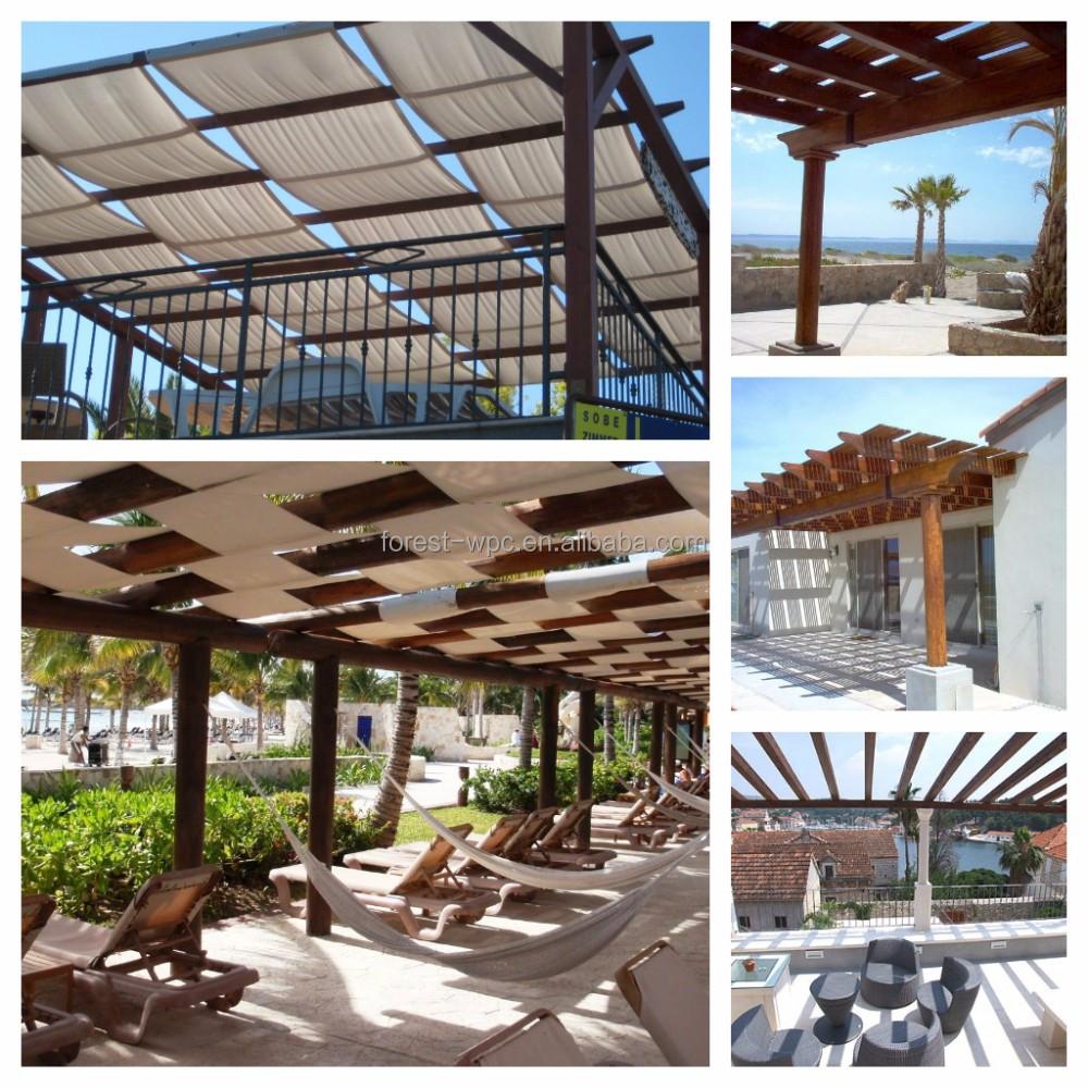 Plein air wpc kiosque design moderne wpc kiosque vendre composite bois perg - Pergola bois moderne ...