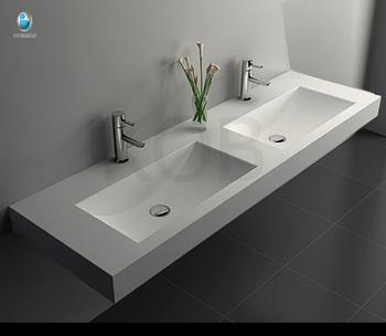 Trough Sink Double Bathroom Vanity