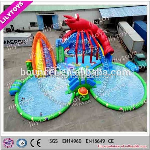 2017 new products outdoor colorful toys funny inflatable swimming pool games