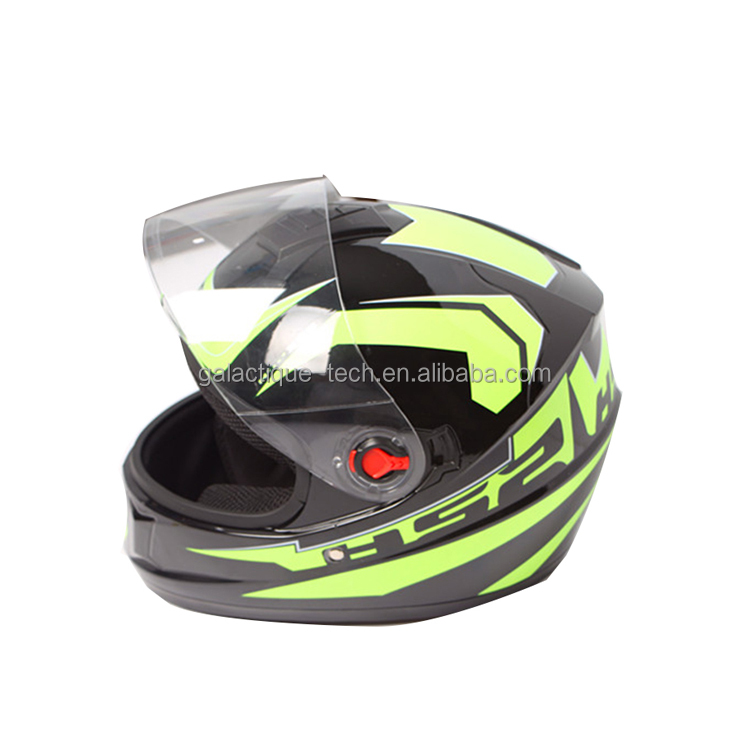 Not Included Motorbike Full Face ECE Helmet YEMA YM-829 Racing Motorcycle Helmet with Sun Visor - White M Bluetooth Friendly
