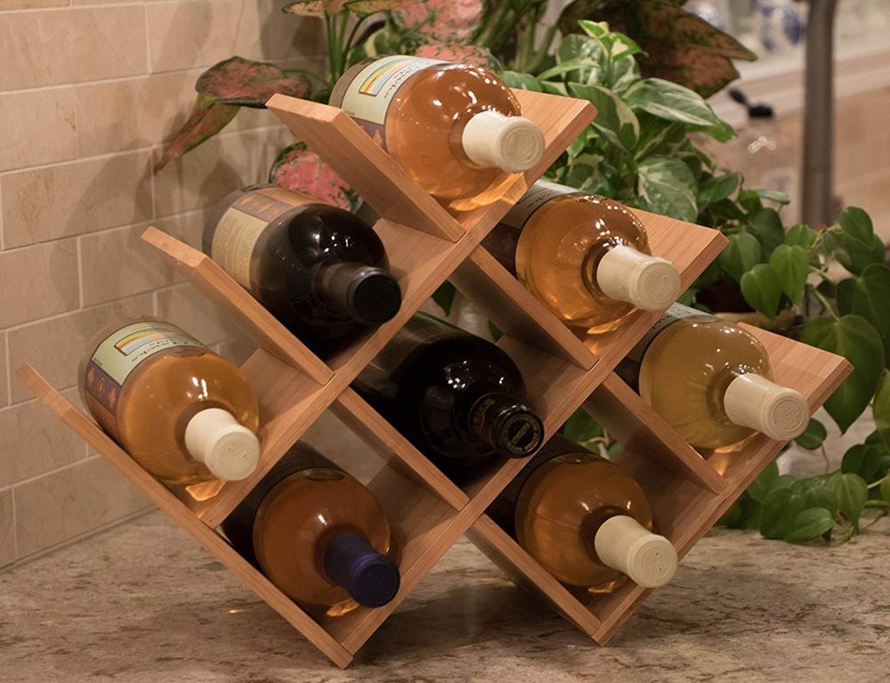 Premium-Free-Standing-W-Shaped-Wine-Rack