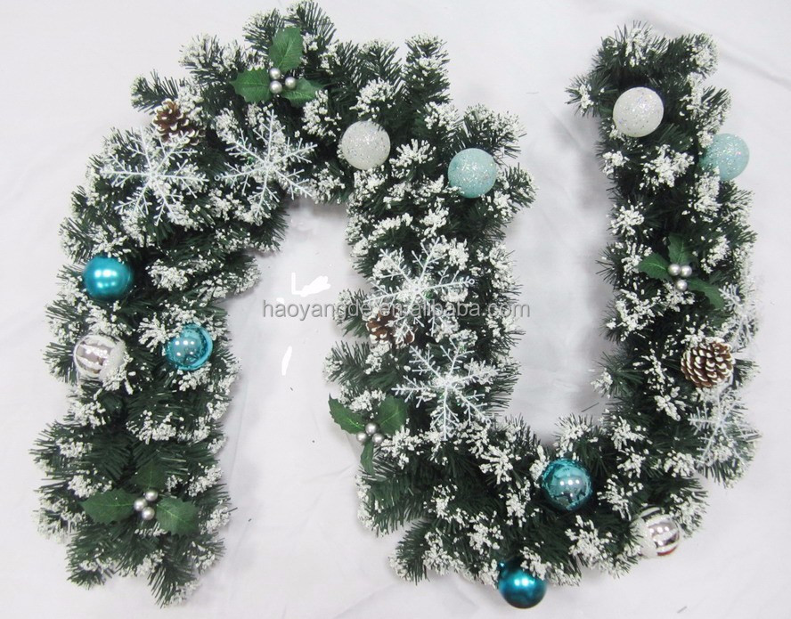Christmas Plastic Decorative artificial bulk Snowing Garland