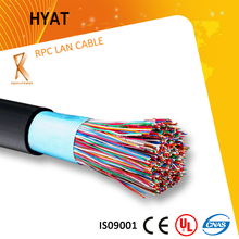 24 awg/26awg (0.4mm/0.5mm) 100 pairs pure copper aerial telephone cable aerial telephone cable color code