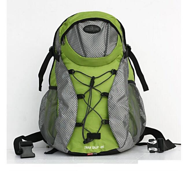 2015 waterproof backpacks external frame removable nylon laptop bag 35l men women backpacks mountain hiking outdoor