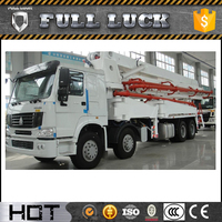 seenwon 125m3/h hydraulic truck mounted concrete mixer for sale