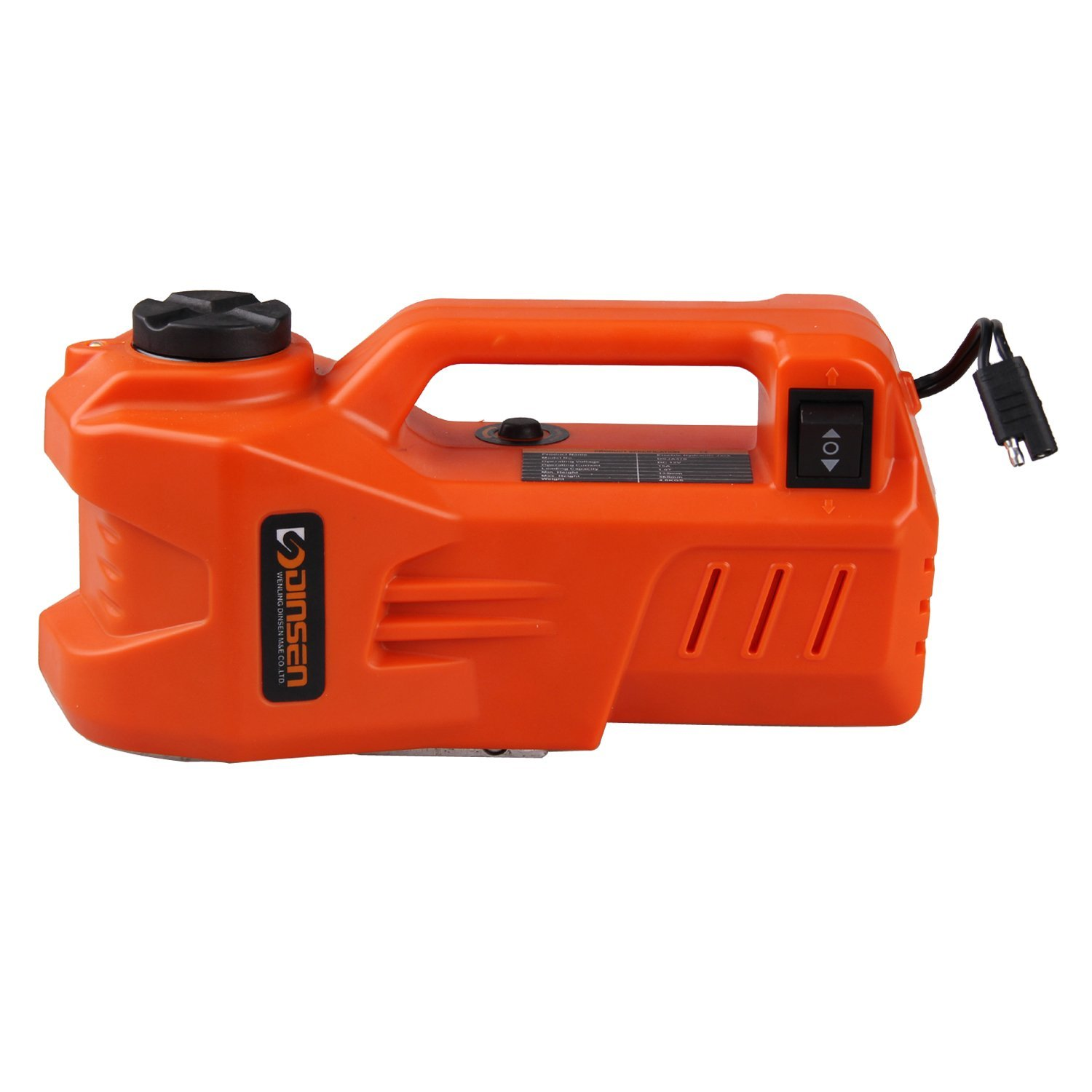 12V DC 1 Ton Electric Hydraulic Car Floor Jack with LED light (5.3-13.9 inch)