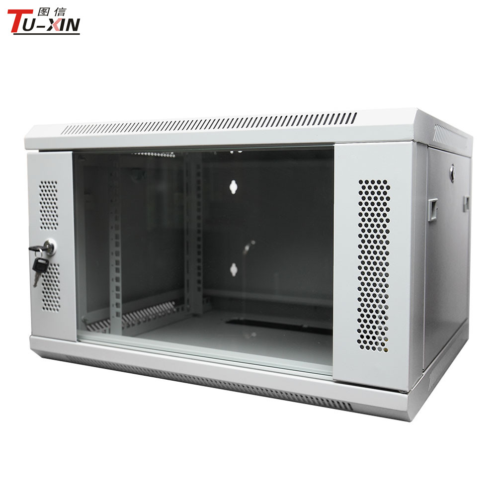 Wall mount locking network cabinet 22U Data rack cabinet Network server cabinet with cooling