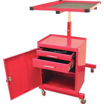 Garage Rolling Tool Cart Mechanic Cabinet Storage Drawers ...