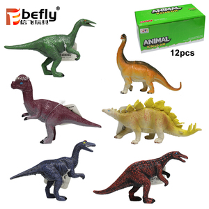 Kids educational gift toy small plastic dinosaur figure for promotional