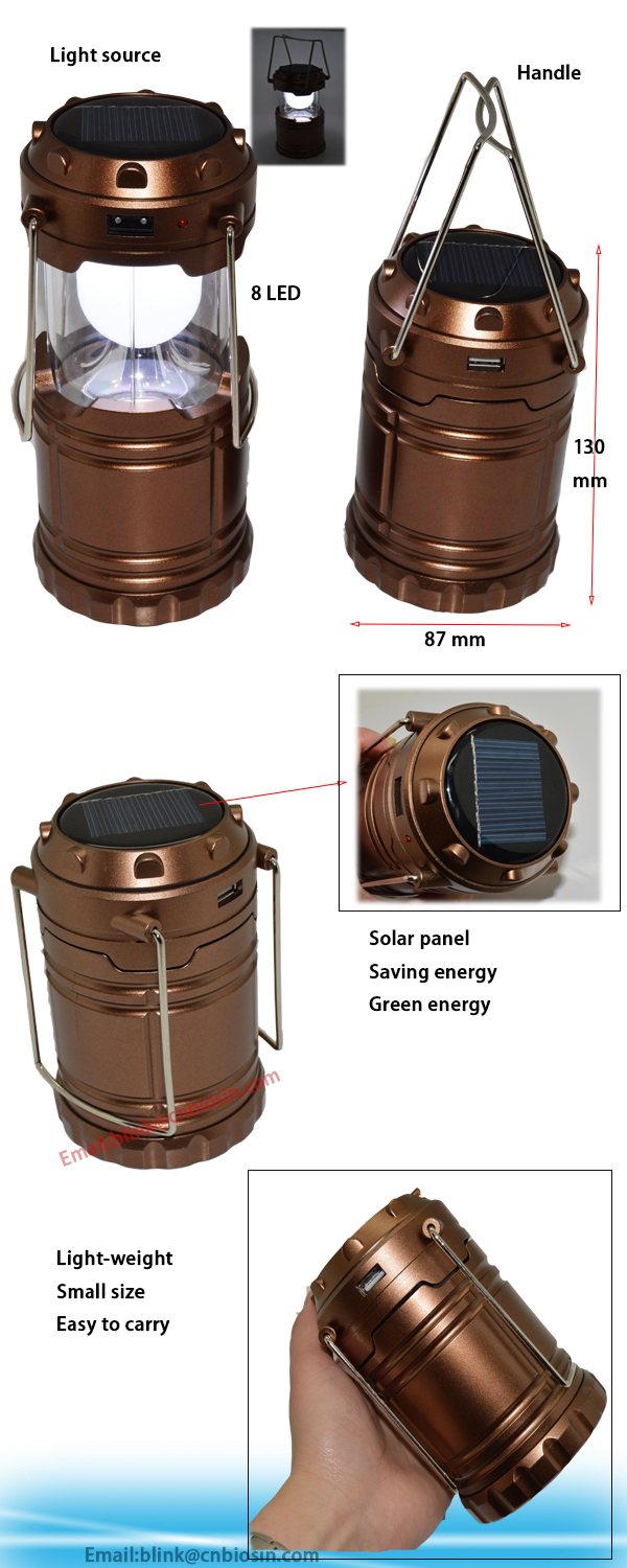Rechargeable Camping Lantern / Solar Led Lantern/aaa Battery Usb ...