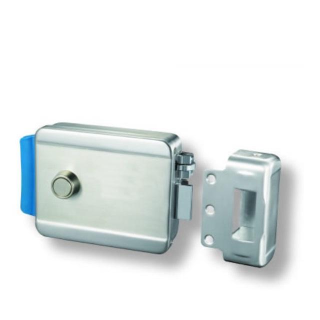 Pomo de Puerta de Acero Inoxidable con Cerradura para Oficina en casa Pr/áctico pomo de Puerta Exterior con Cerradura