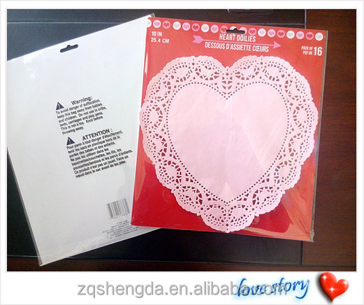 Factory Make Custom Heart Shaped Lace Paper Doilies Red And White ...