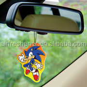 promotion gifts custom car air freshener perfumed hang tag fragrance card