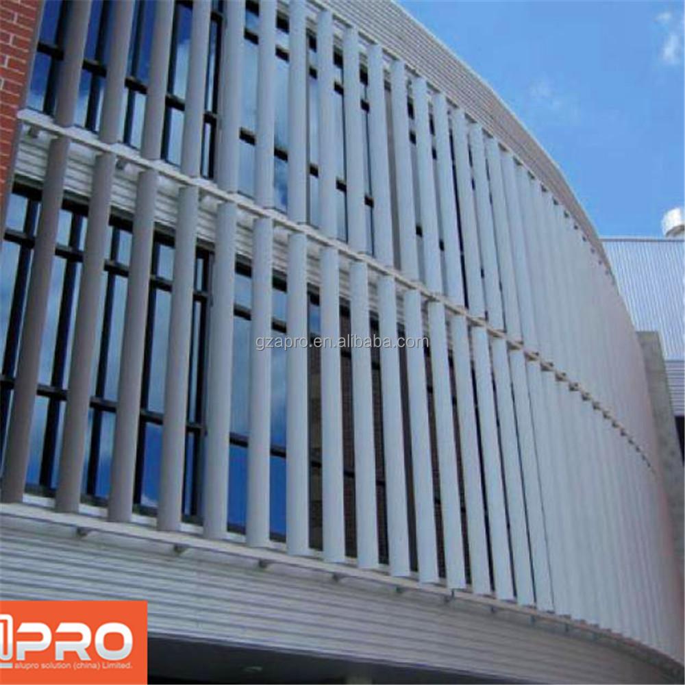 Building Exterior: Multi-track Design Building Exterior Louver Window