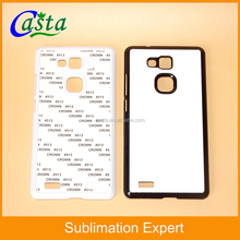 Factory Cheaper Price 2D 3D Aluminum And PC material cover Blank Sublimation Phone Case For Huawei mate 7 Mobile phone case