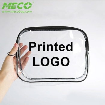 BSCI Audit Factory Customized Waterproof PVC Plastic Zipper Bag, Clear PVC Bag