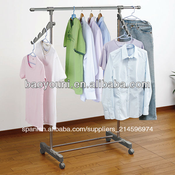 baoyouni simple instalacin de diy permanente de estante de la ropa estante de la ropa de