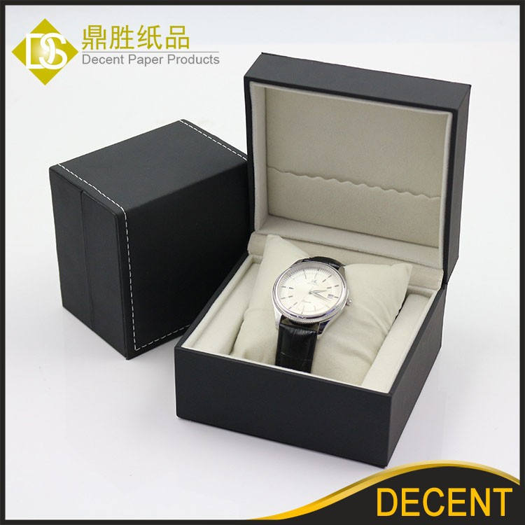 YIWU DECENT Ready Stock Wholesale Black Luxury PU Leather Watch Box Case