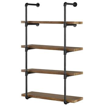 Peachy Diy Industrial Black Pipe Bookshelf Wall Ceiling Mounted Open Bookshelf Parts Bracket Kit Buy Ceiling Mounted Open Bookshelf Parts Bracket Creativecarmelina Interior Chair Design Creativecarmelinacom