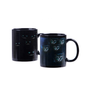 Factory new design ceramic magic cups custom color change 3d animal travel coffee mugs