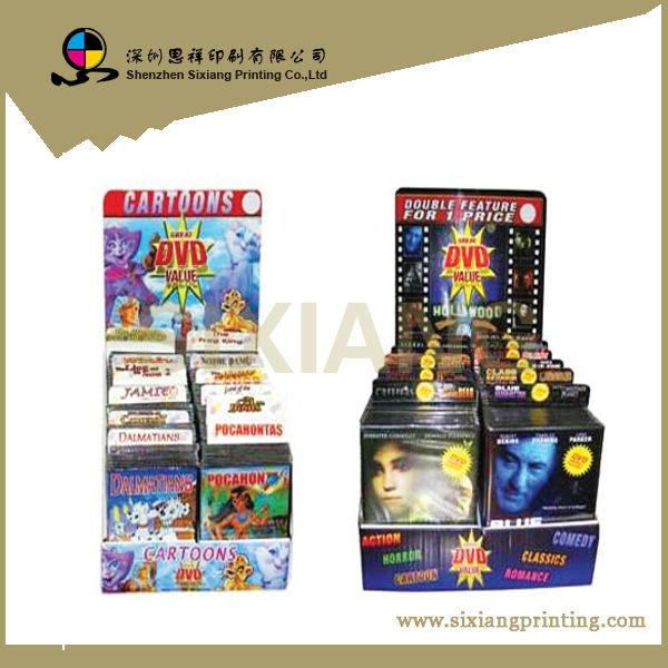 Advertising Shop Cardboard DVD Counter Display