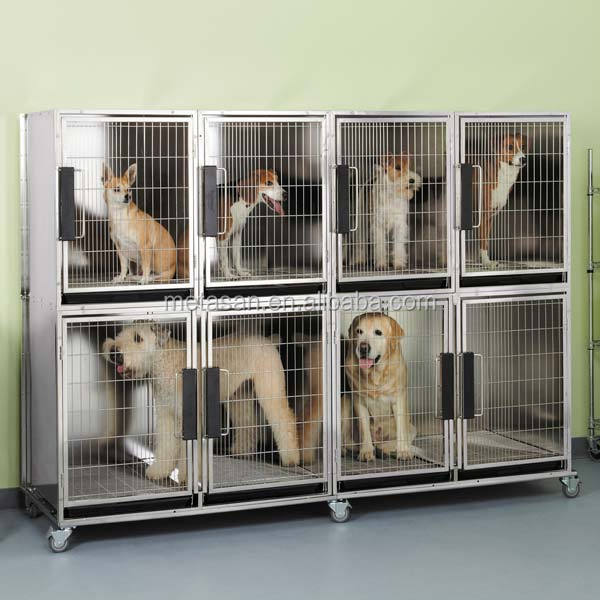 Custom stainless steel pet cage dog cages for pet shop hospital