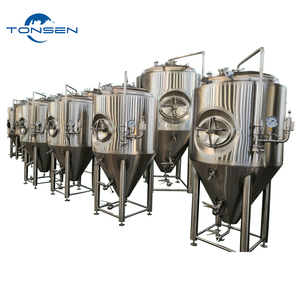 Stainless steel 500 gallon glycol jacket conical beer fermenter
