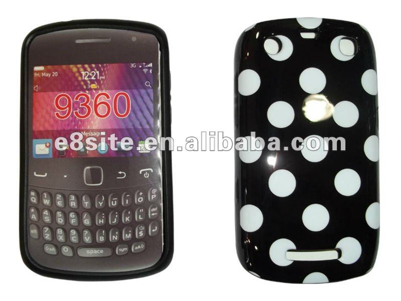 Dot IMD Printing TPU Gel Cover Case For BlackBerry 9360 9350 9370