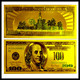 24k gold foil banknote fake USD 100 bill collectable bank notes