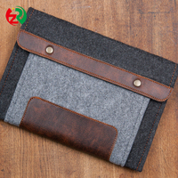 Wholesale high quality laptop protective case handmade cheap felt tablet sleeve made in China