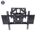 Double Arm Tilt Swivel VESA 600*400 MM Full Motion TV Wall Mount Bracket for 32-65 Inch