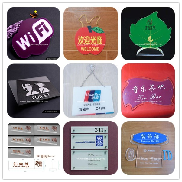 customplstic acrylic door number sign holder