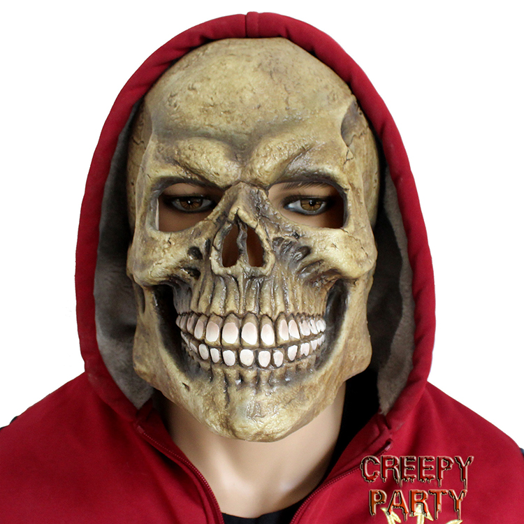 Creepy Fancy Dress Up Halloween Party Latex Skull Full Head Latex Masks