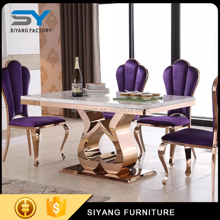 Modern Furniture Philippines philippines furniture modern stainless steel dining table ct006