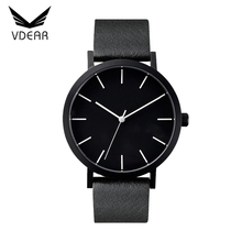 Customized good quality Japan movt 2035 quartz watch stainless steel back men wrist watches 2017