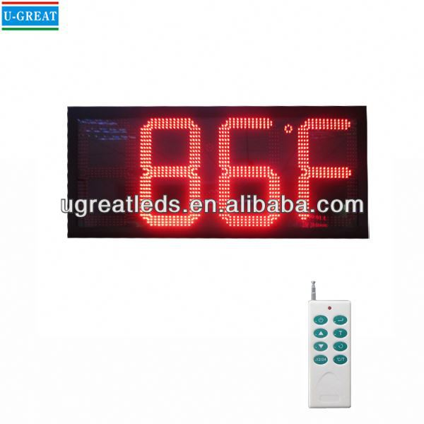 China manufacturer high quality and cheap 4digits semi-outdoor led digital display