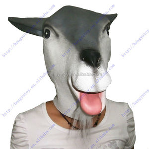 Halloween Cosplay Costume Realistic Goat Mask Rubber Sheep head Mask