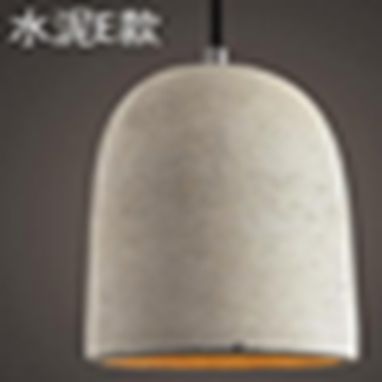 High quality study E cement pendant lamp light grey for hotel