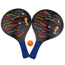 Entertainment product hoge kwaliteit hot selling houten strand tennisracket