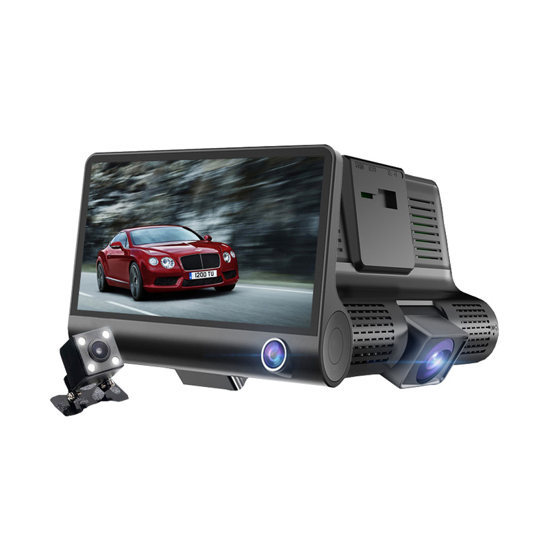 Factory Price 3 In 1 Mini Camera 4.0 Inch Ultra Thin Road Safety 1080P Full HD Car DVR Camera Recorder