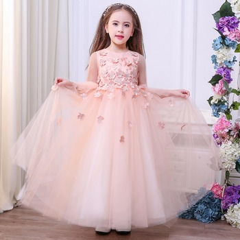 82b11ed38 2018 Custom Made Wedding Party Dresses Pretty Flower Girl Long ...