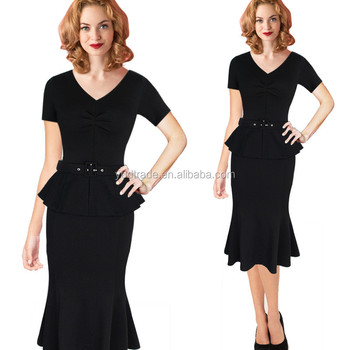 2017 Womens Formal Business Work Pencil Dress Latest Fashion Office