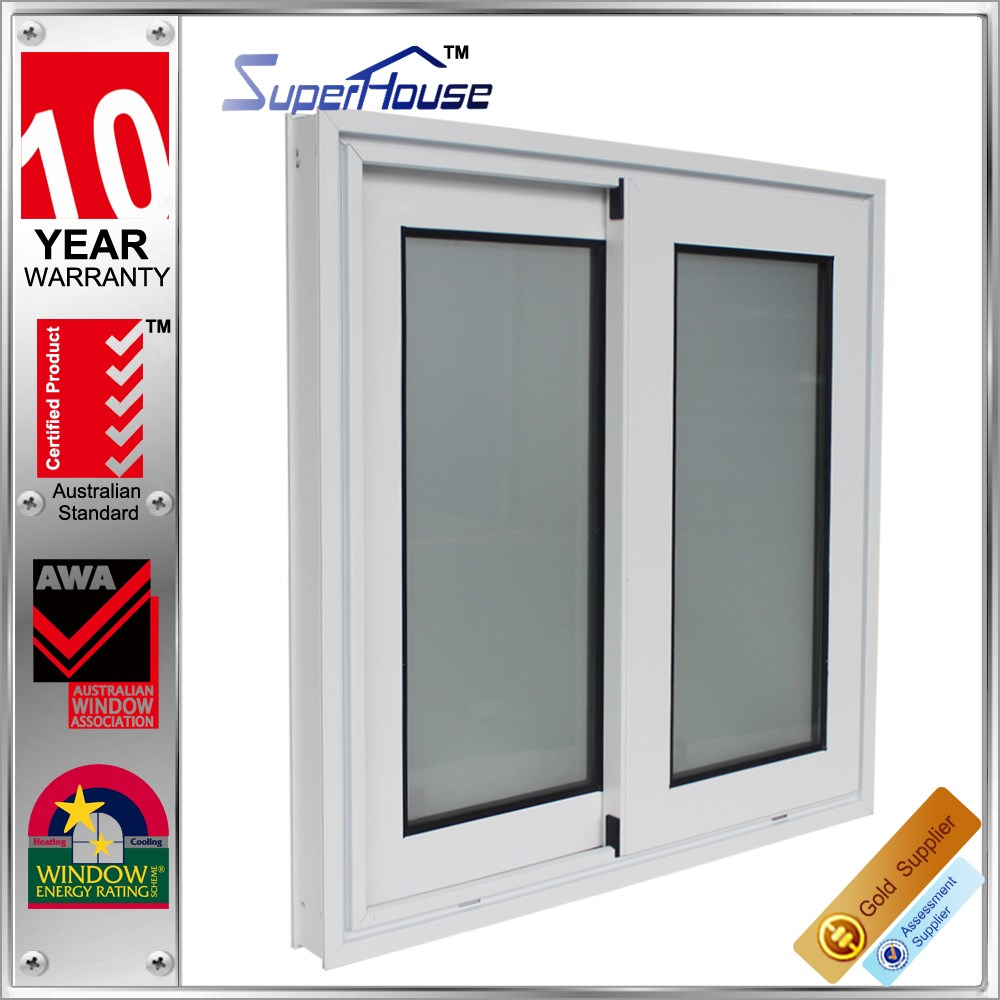 Superhouse exterior AS2047 high end double glazing sliding window with german brand hook lock