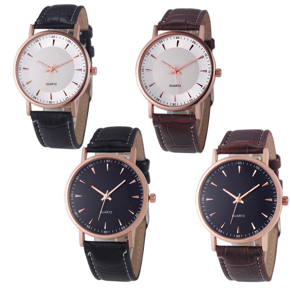 Gül altın yuvarlak kasa kol saati özel kadran tasarımı toptan saatler ucuz fiyata