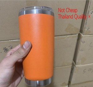 Ready To Ship 20 oz Double Wall Vacuum Insulated Travel Mugs Stainless Steel Tumbler Wine cups Powder Coated Orange