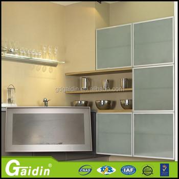 Diseño Moderno Tamaño Personalizado Decorativo Marco De Perfil De Aluminio  Para Mueble De Cocina Puerta De Cristal - Buy Perfil De Aluminio ...