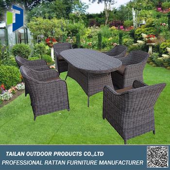 Mesa De Comedor Y Sillas Para El Jardin Elegante Al Por Mayor Juegos